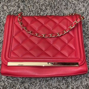 Red/Gold Crossbody